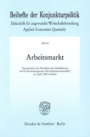 Cover: Arbeitsmarkt