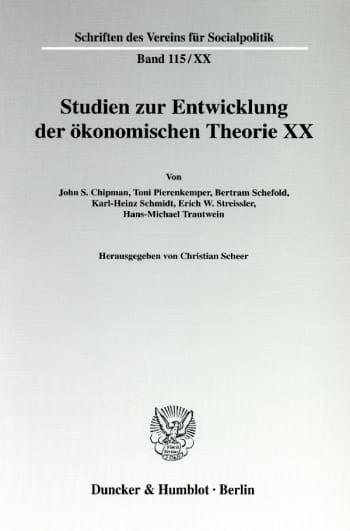 Cover: Die Ältere Historische Schule: Wirtschaftstheoretische Beiträge und wirtschaftspolitische Vorstellungen