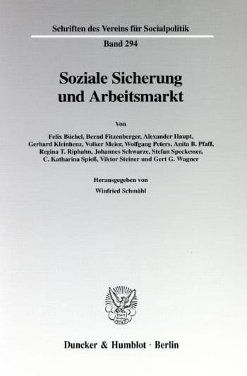 Cover: Soziale Sicherung und Arbeitsmarkt