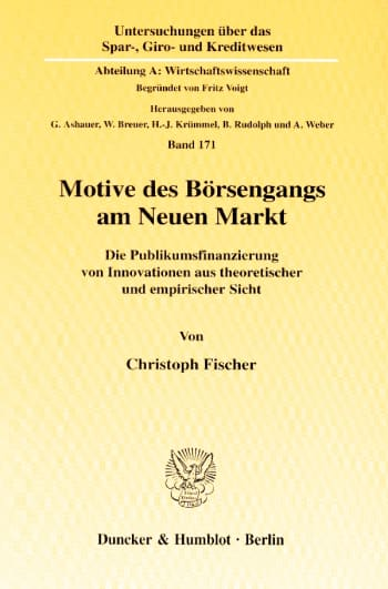 Cover: Motive des Börsengangs am Neuen Markt