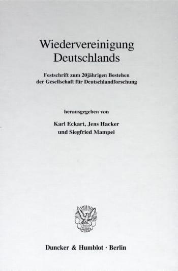 Cover: Wiedervereinigung Deutschlands