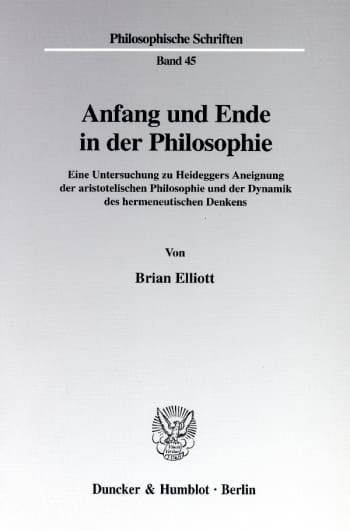 Cover: Anfang und Ende in der Philosophie