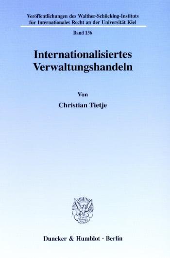 Cover: Internationalisiertes Verwaltungshandeln