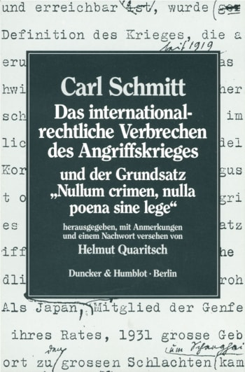 Cover: Das internationalrechtliche Verbrechen des Angriffskrieges und der Grundsatz »Nullum crimen, nulla poena sine lege«