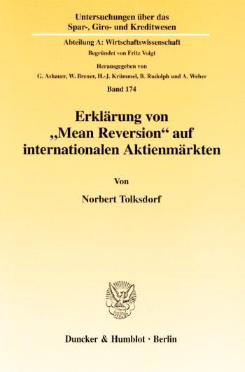 """Cover: Erklärung von """"Mean Reversion"""" auf internationalen Aktienmärkten"""