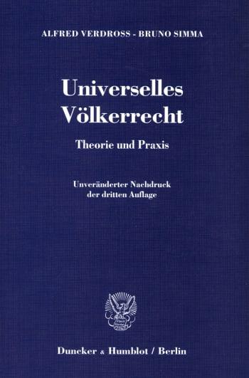 Cover: Universelles Völkerrecht