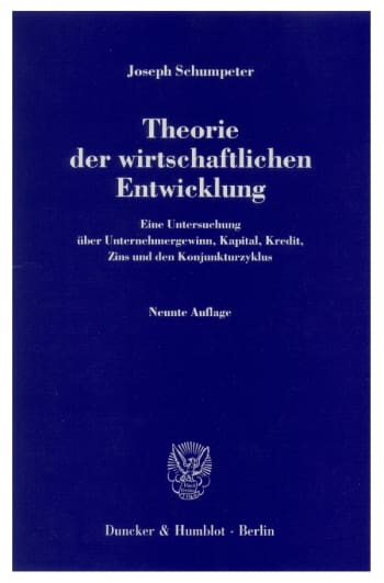 Cover: Theorie der wirtschaftlichen Entwicklung