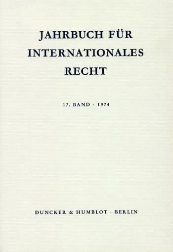 Cover: Jahrbuch für Internationales Recht