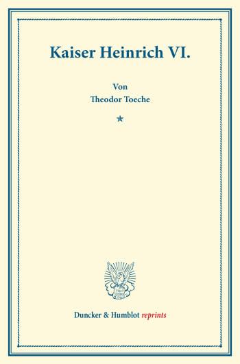 Cover: Kaiser Heinrich VI