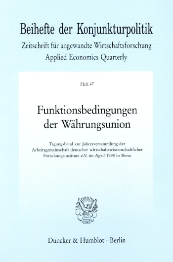 Cover: Funktionsbedingungen der Währungsunion