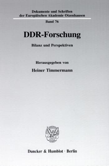 Cover: DDR-Forschung