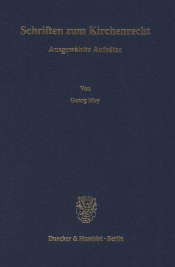 Cover: Schriften zum Kirchenrecht