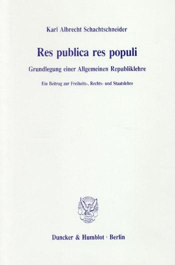 Cover: Res publica res populi