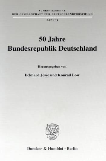 Cover: 50 Jahre Bundesrepublik Deutschland