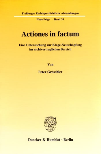 Cover: Actiones in factum