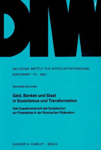 Cover: Geld, Banken und Staat in Sozialismus und Transformation
