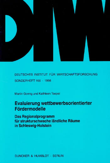 Cover: Evaluierung wettbewerbsorientierter Fördermodelle