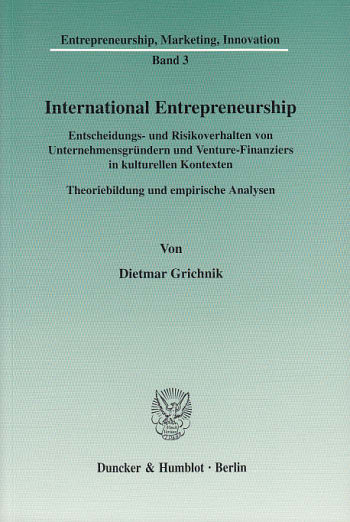 Cover: International Entrepreneurship