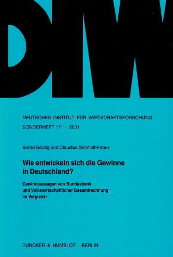 Cover: Wie entwickeln sich die Gewinne in Deutschland?
