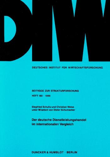 Cover: Der deutsche Dienstleistungshandel im internationalen Vergleich