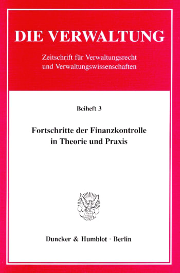 Cover: Fortschritte der Finanzkontrolle in Theorie und Praxis