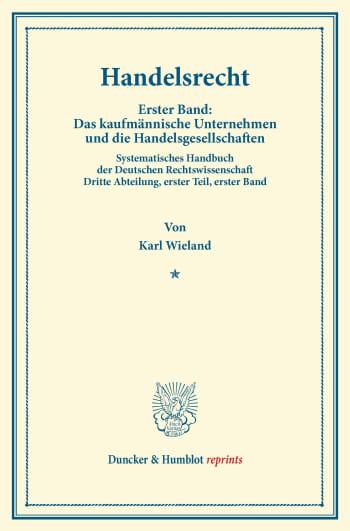 Cover: Handelsrecht