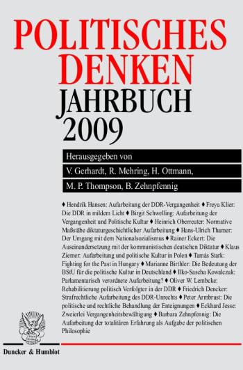 Cover: Politisches Denken. Jahrbuch 2009