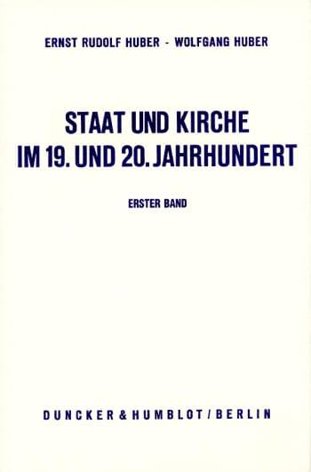 Cover: Staat und Kirche im 19. und 20. Jahrhundert