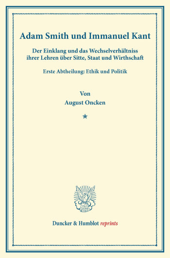 Cover: Adam Smith und Immanuel Kant
