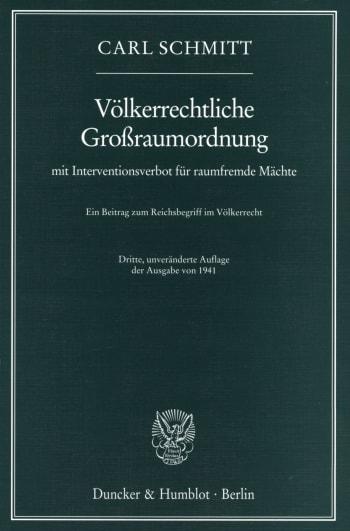 Cover: Völkerrechtliche Großraumordnung
