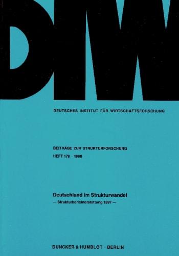 Cover: Deutschland im Strukturwandel