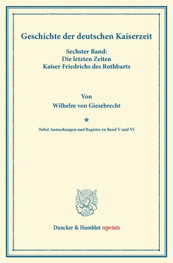 Cover: Geschichte der deutschen Kaiserzeit