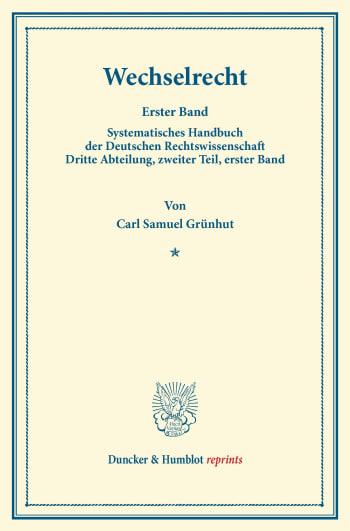 Cover: Wechselrecht