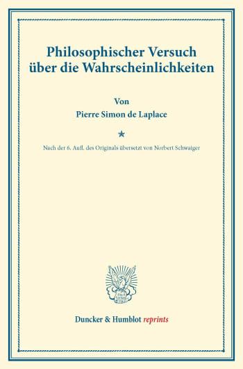 Cover: Philosophischer Versuch über die Wahrscheinlichkeiten