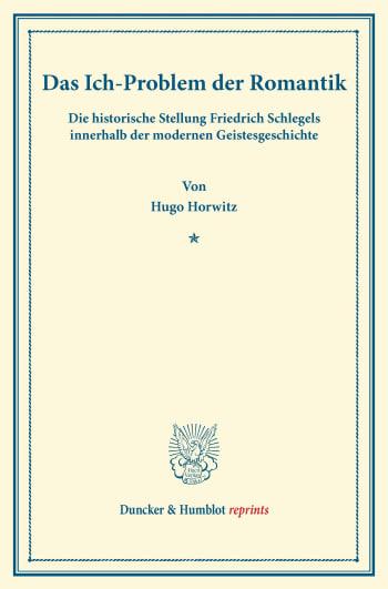 Cover: Das Ich-Problem der Romantik