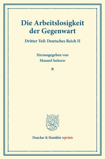 Cover: Die Arbeitslosigkeit der Gegenwart