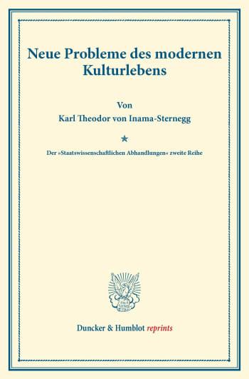 Cover: Neue Probleme des modernen Kulturlebens