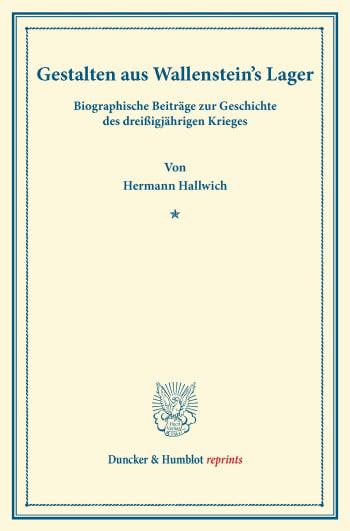 Cover: Gestalten aus Wallenstein's Lager