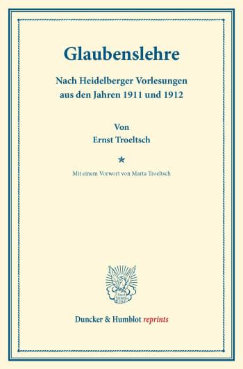 Cover: Glaubenslehre