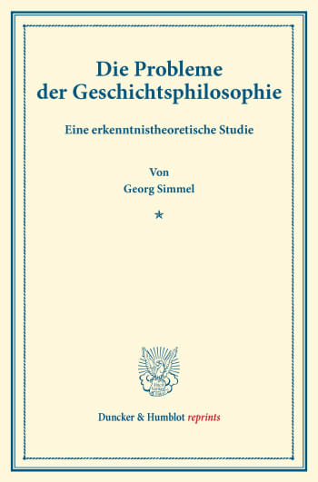 Cover: Die Probleme der Geschichtsphilosophie