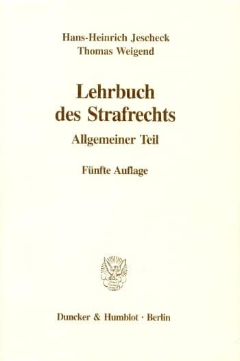 Cover: Lehrbuch des Strafrechts