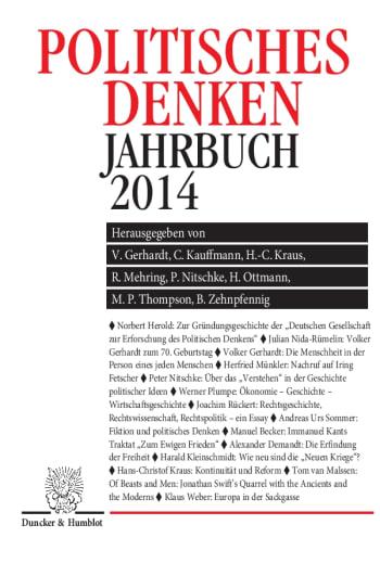Cover: Politisches Denken. Jahrbuch 2014