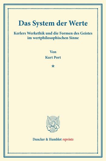 Cover: Das System der Werte