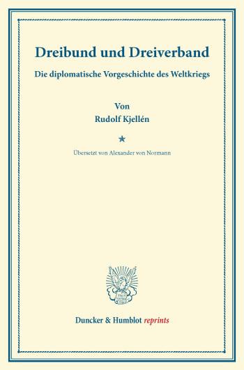 Cover: Dreibund und Dreiverband
