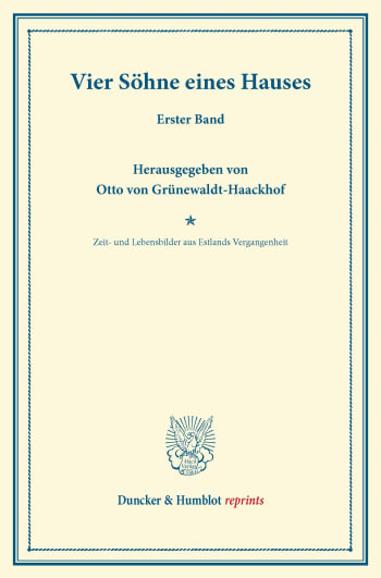 Cover: Vier Söhne eines Hauses