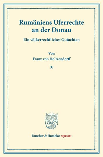 Cover: Rumäniens Uferrechte an der Donau