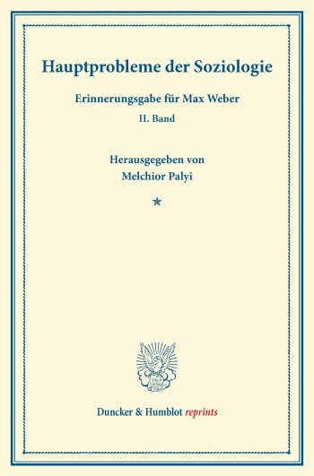 Cover: Hauptprobleme der Soziologie