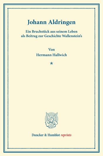 Cover: Johann Aldringen