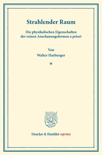 Cover: Strahlender Raum