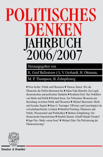 Cover: Politisches Denken. Jahrbuch 2006/2007